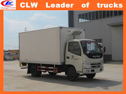 China Foton 4*2 Small Refrigerated Trucks 20ft Refrigerator ...