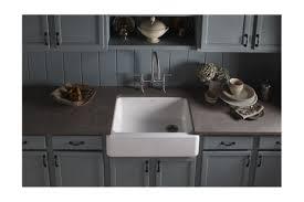 Kohler Whitehaven Farmhouse Sink by Faucet Com K 6487 0 In White By Kohler