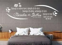 wandtattoo schlafzimmer wohnzimmer name datum spruch solange