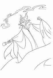 Maleficent Coloring Pages Awesome Disney Villain Printable