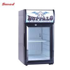 Display Refrigerator Type Desk Top Glass Door Small Fridge