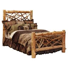 Fireside Lodge Cedar Twig Log Panel Bed & Reviews