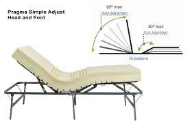Adjustable Bed Base Split King by Pragma Adjustable Metal Bed Frame Raises Head And Feet