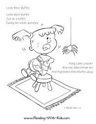 Little Miss Muffet Coloring Page