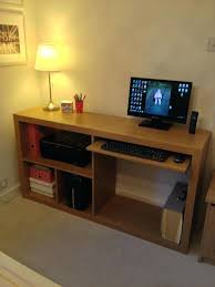Ikea Computer Desk Hack by Ikea Expedit With Desk Hack Unit Made Into Desk Ikea Expedit Desk