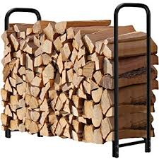 Amazon 4ft Outdoor Firewood Log Rack for Fireplace Heavy Duty