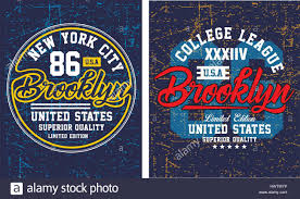 vintage brooklyn new york typography design for t shirt poster