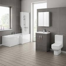 Modern Bathroom Rugs And Towels by Ultra Modern Bathroom Black And White Brooklyn Grey Avola