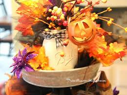 Crossroads Village Halloween by Priscillas Halloween Galvanized Tray Centerpiece