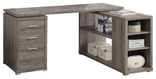 dark taupe reclaimed look left right facing corner desk