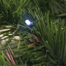 4 Ft Pre Lit Led Christmas Tree by Fiber Optic 7 U0027 Christmas Tree With Multicolor Led Lights And Stand
