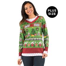 Diy Christmas Story Leg Lamp Sweater by Plus Size Ugly Christmas Sweater With Cats For Women Buycostumes Com