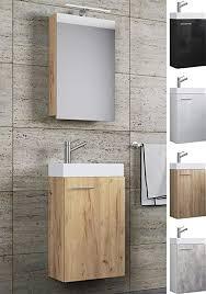 vcm waschplatz waschbecken schrank spiegelschrank wc gäste toilette badmöbel klein schmal slito spiegelschrank schwarz