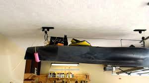 Kayak Hoist Ceiling Rack by Kayak Lift System