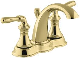 Menards Brass Bathroom Faucets by Faucet Com K 393 N4 Pb In Vibrant Polished Brass By Kohler