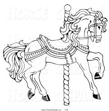 Free Coloring Pages Carousel Horse Pdf Printable