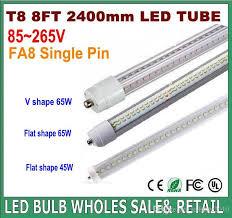 led lights 8ft t8 fa8 single pin v shaped led lights 45w