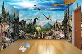 3D Jurassic World Dinosaur Wall Murals Wallpaper Paper Art Print Decor IDCQW 000350