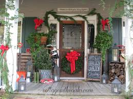 Glamorous Front Porch Christmas Decorations Pictures Design Ideas
