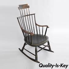 Antique American Primitive Black Painted Wood Windsor Rocking Chair Colonial Windsor Rocking Chair For Sale Zanadorazioco Four Country House Kitchen Elm Antique Windsor Chairs Antiques World Victorian Rocking Chair English Armchair Yorkshire Circa 1850 Ercol Colchester Edwardian Stick Back Elbow 1910 High Blue Cunningham Whites Early 19th Century Ash And Yew Wood Oxford Lath C1850 Ldon Fine