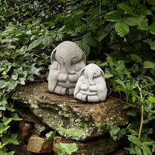 Zen Elephant Garden Sculpture Zen Garden Praying Sculpture