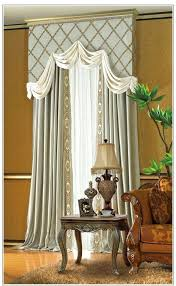 lace curtains with attached valance joy sheer lace panel w