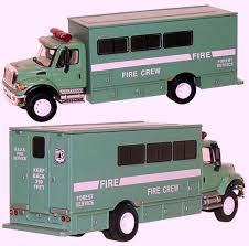 100 Boley Fire Trucks U S Forest Service Light Green Cab Body Silver Tank Crew