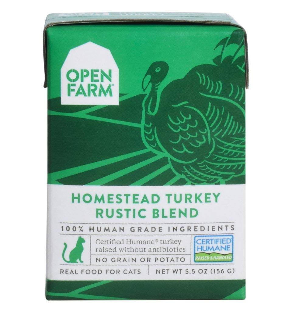 Open Farm Homestead Turkey Rustic Blend Wet Cat Food 5.5 oz