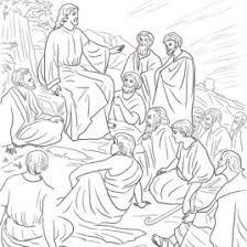 Jesus Teaching People Coloring Page