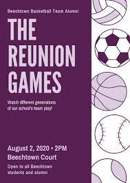 Purple Sports Reunion Poster