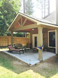 Diy Wood Patio Cover Kits by Gable Roof Patio Cover With Wood Stained Ceiling Diy Front Porch