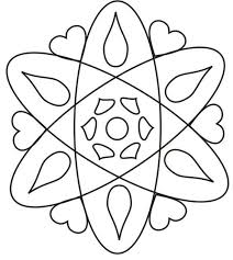 Rangoli Designs Printable Coloring Pages Design Page For 4