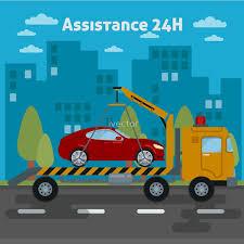 Car Assistance. Roadside Assistance Car. Tow Truck.