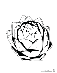 Colour Vegetable Pictures Artichoke Coloring Page Nature Pages Sheets Vegetables Colouring Book Pdf Full Size