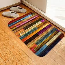 teppichmatte rutschfest groß und gestreift für wohnzimmer schlafzimmer flur küche textil a 40x60cm 1 3x2ft