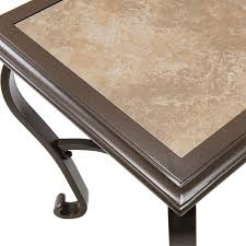 ventura pit chat set with porcelain tile top in