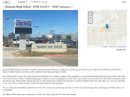 100 Craigslist Cars And Trucks By Owner San Diego Ramona High School Listed For Sale In Funny Senior Prank