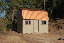 tall barn with copper metal roof idaho wood sheds storage