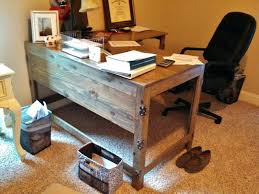 Rustic Office Desk Industrial Fusion Reclaimed Wood Home Accessories