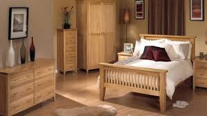 Wooden Bedroom Furniture Designs Awesome Unfinished Oak Wood Bed With Slats End Plus Nightstand And Side