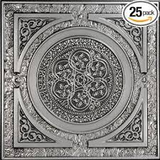 Black Ceiling Tiles 2x4 Amazon by Steampunk Faux Tin Ceiling Tile Antique Silver 25 Pack