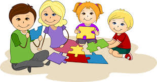Family Working Together Clipart