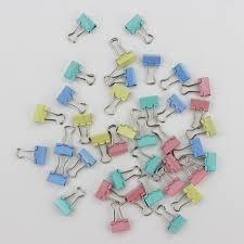 fourniture de bureau papeterie 60 pcs lot 15mm coloré en métal liant papier clip bureau