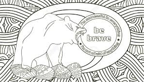 Coloring Pages For Adults With The Lettering Be Strong You Can Also Write Your