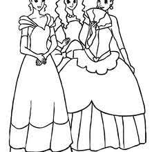 3 Beautiful Princesses Coloring Pages