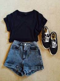 T Shirt Shoes Shorts Denim High Waisted Short Cute Tank Top Vintage Hipster Vans