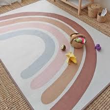 regenbogen kinder krabbeln teppich boden teppich baby spielen matte kinder zelte decke schlafzimmer wohnzimmer decoratioin baby mädchen zeug
