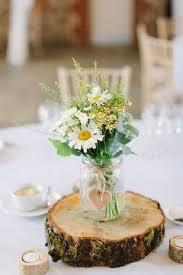 Summer Wild Flowers Filled In Mason Jar Wedding Centerpiece Centerpieces Weddingcenterpieces Masonjar