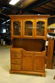 Chinese Sideboard Buffet Beautiful Ethan Allen 2 Piece Cherry China Cabinet Hutch Bubble Glass Reduced