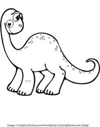 Free Printable Cute Dinosaur Coloring Page Sheets For Boys And Girls